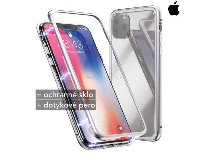 Magnetické púzdro Roybens Magnetic pre iPhone strieborna