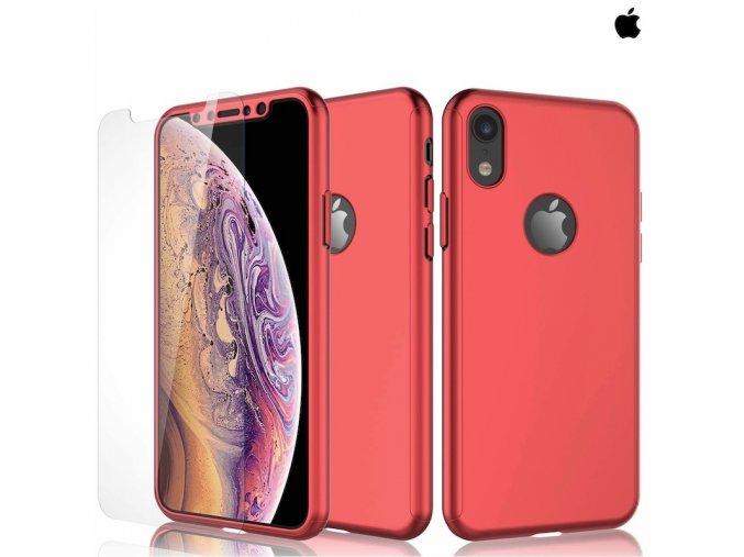 Puzdro Roybens 360 Full Body pre Apple iPhone + tvrdene sklo Cervene