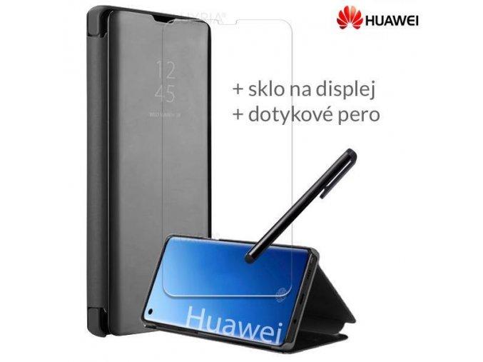 Otváracie Púzdro Roybens Clear View pre Huawei Čierne