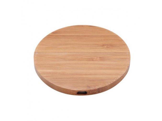 Luxria Wood ChargePad Drevená bezdrôtová nabíjačka okrúhla 10W