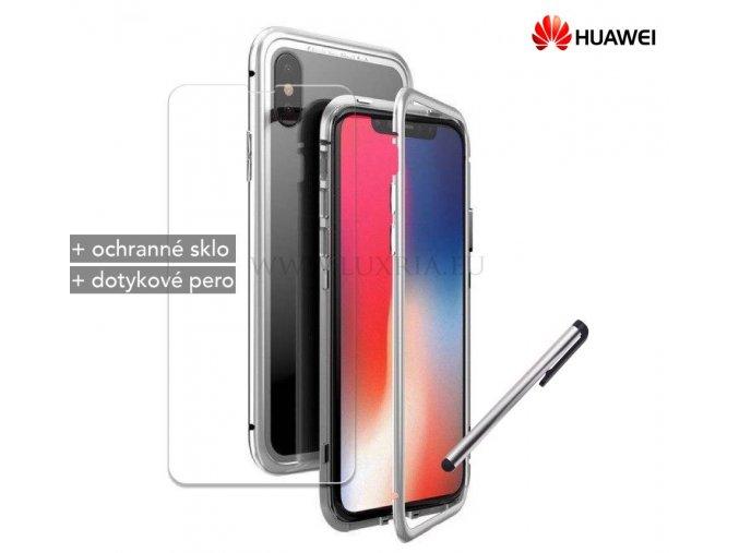 Magnetické púzdro Roybens Magnetic pre Huawei - Strieborné 1