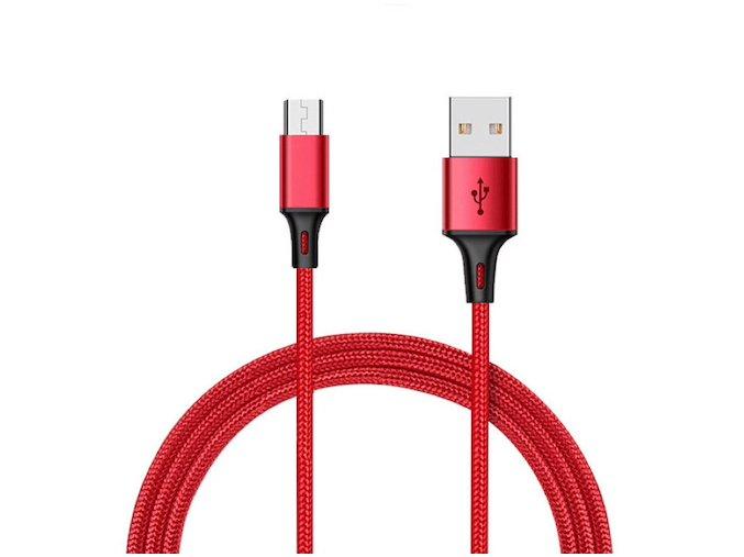Durable Cable Červený nabíjací usb kábel pre iPhone, Android, type c, micro usb, lighting (1)