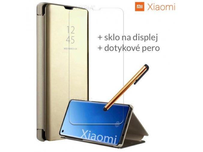 Otváracie Púzdro so tojanom Roybens Clear View pre Xiaomi zlate