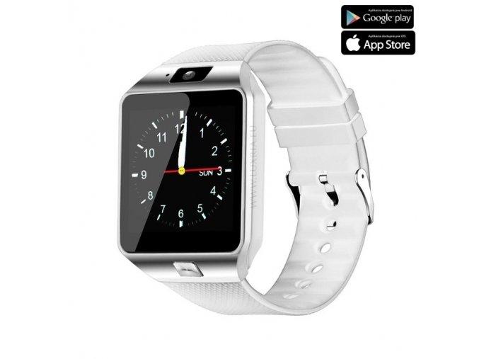 Luxria Smarty DZ09 - Biele inteligentné hodinky 1