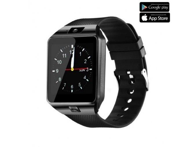 Luxria Smarty DZ09 - Čierne inteligentné hodinky