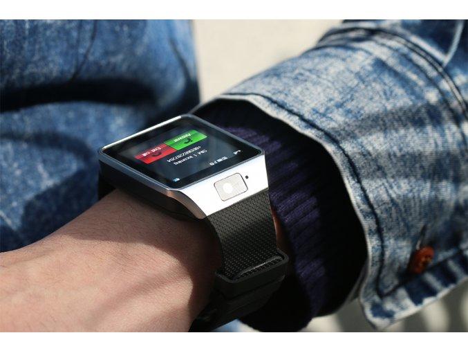 Smarty DZ09 Silver lacne inteligetné hodinky luxria 1