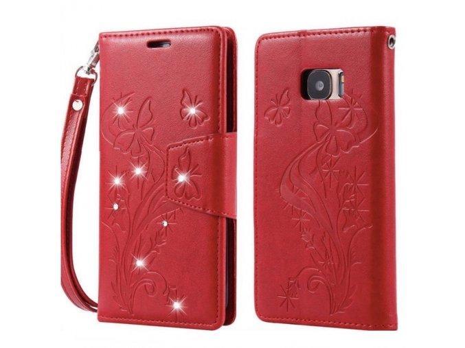 Motýľ Červený Samsung Obal Luxria 1
