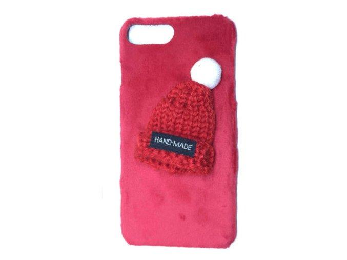 Plyšová Čiapka červená iPhone Luxria 1