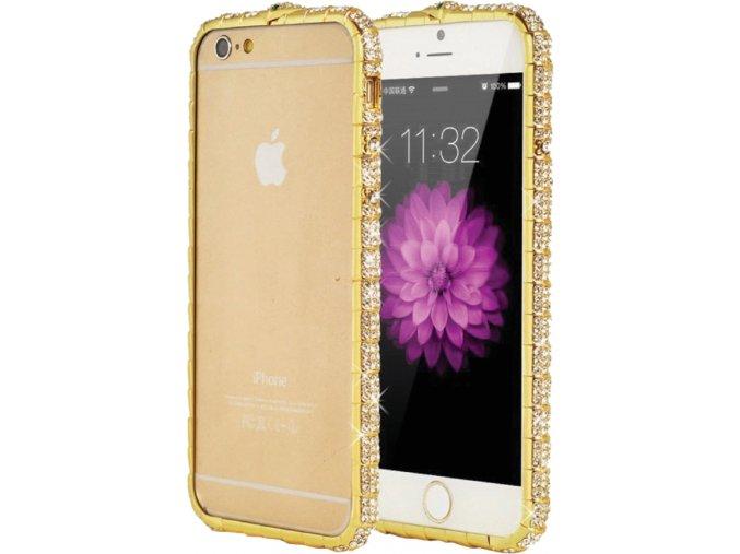 Gold Diamond Bumper iPhone 6s Plus, 6 Plus, 6s, 6, SE, 5s, 5 Obal Luxria 1