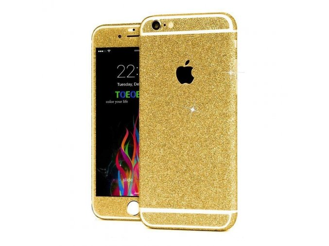 Roybens Glitter iPhone Wrap - Gold 1
