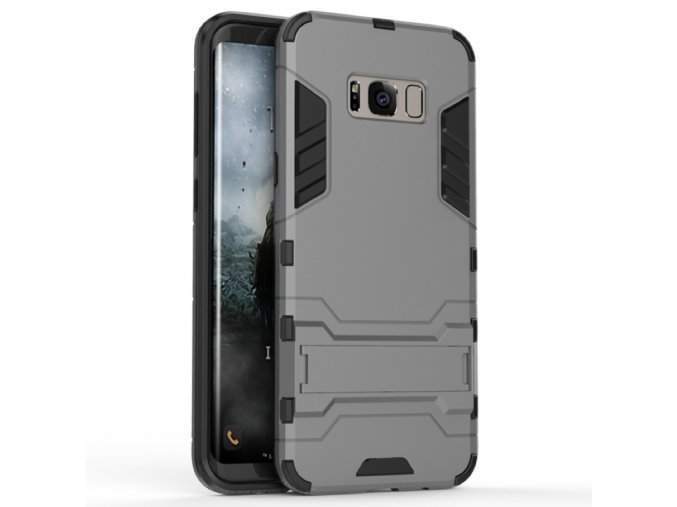 Samsung Armor II so stojanom Šedý. Vhodný pre Samsung Galaxy S8 : S8 Plus 1