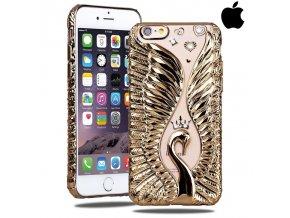 SHENGO Swan Zlatá Labuď obal, kryt na iphone Luxria 1