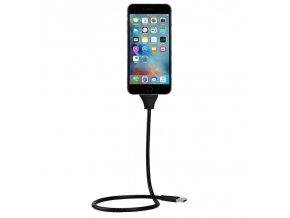 Remax ohybný držiak na nabíjanie alebo prenos údajov iPhone, Micro USB, USB C, cierny(1)