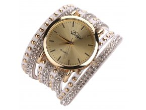 Gold Luxury Crystal Hodinky Luxria 1