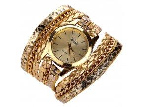 Gold Snakeskin Hodinky Luxria 1