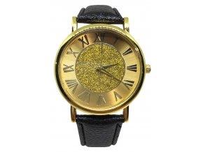 Black Gold Leather Hodinky Luxria 1
