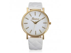 Elegant Glossy White Hodinky Luxria 1