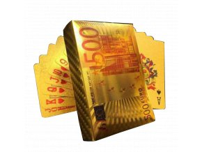 Poker Hracie karty zlaté 500 Euro (1)
