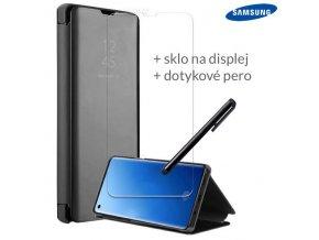 Otváracie Púzdro Roybens Clear View pre Samsung Čierne