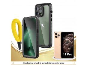 Roybens Resistant Black Vodotesný Obal pre iPhone X, 8+, 8, 7+, 7, 6s+, 6s, 6+, 6, SE, 5S, 5 (1)