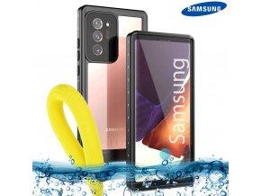 Odolné Vodotesné púzdro Luxria Resistant pre Samsung Čierne (certifikované) 1