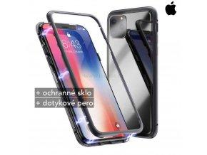 Magnetické púzdro Roybens Magnetic pre iPhone cierna