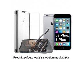 Otváracie Púzdro Roybens Clear View pre Apple iPhone strieborne
