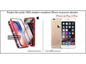 Magnetické púzdro Roybens Magnetic pre iPhone - Červené  + darček dotykové pero zadarmo