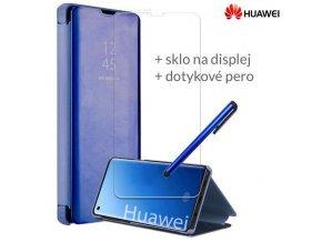 Otváracie Púzdro Roybens Clear View pre Huawei Modré