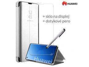Otváracie Púzdro Roybens Clear View pre Huawei Strieborne