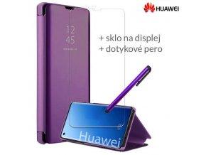 Otváracie Púzdro Roybens Clear View pre Huawei Fialove