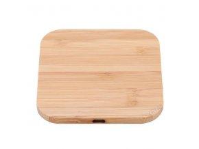 Luxria Wood ChargePad Drevená bezdrôtová nabíjačka štvorcová 10W