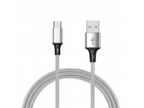 Durable Cable Strieborný nabíjací usb kábel pre iPhone, Android, type c, micro usb, lighting (1)