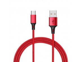 Durable Cable Červený nabíjací usb kábel pre iPhone, Android, type c, micro usb, lighting (1)