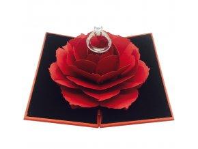 Darčeková krabička na prsteň Luxria Rose Box - Červená 1