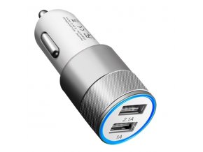 Silver Car USB Adaptér do auta 2x USB