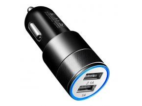 Black Car USB Adaptér do auta 2x USB