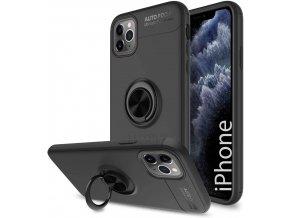 Multifunkčné magnetické púzdro Luxria Ring pre iPhone Čierne