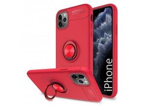 Multifunkčné magnetické púzdro Luxria Ring pre iPhone Červene