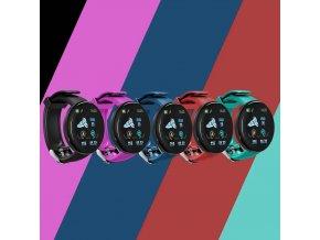 Luxria SportWatch D18 - Fialové športové smart hodinky