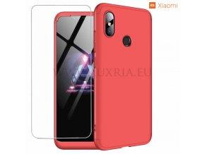 Roybens 360 Red - Celotelový dvojdielny obal s ochranou displeja pre Xiaomi 1