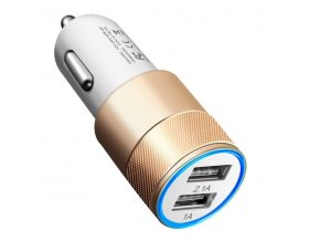 Gold Car USB Adaptér do auta 2x USB