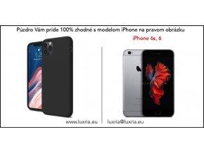 Silikónové púzdro Luxria Premium pre Apple iPhone Čierne