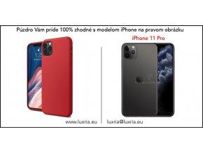 Silikónové púzdro Luxria Premium pre Apple iPhone Červene