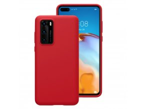 Púzdro Luxria Premium pre Huawei Červené (Liquid Silicone & Soft Touch)