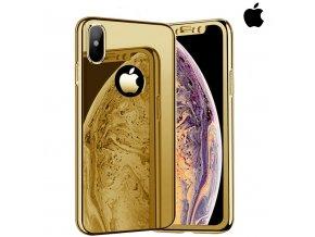 Celotelový zrkadlový zlatý obal pre iPhone (1)