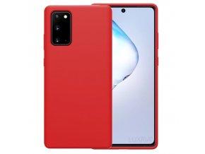 Púzdro Luxria Premium pre Samsung Červené (Liquid Silicone & Soft Touch)