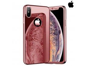 Celotelový zrkadlový ružový obal pre iPhone (1)