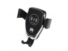 Luxria Smart Holder - Čierny držiak do auta s bezdrôtovým nabíjaním