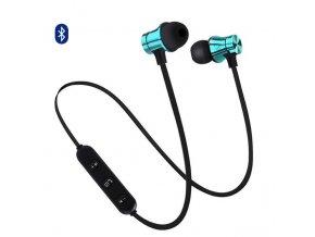 EarMax Wireless Chrome - Modré bluetooth slúchadlá s mikrofónom
